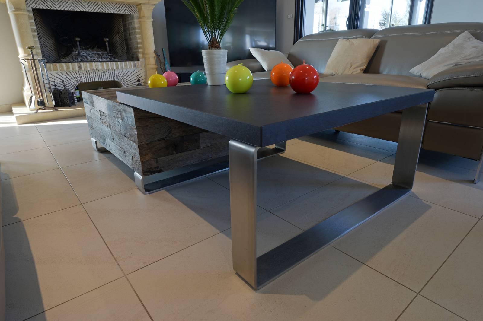 r alisation d 39 une table basse de salon originale en. Black Bedroom Furniture Sets. Home Design Ideas